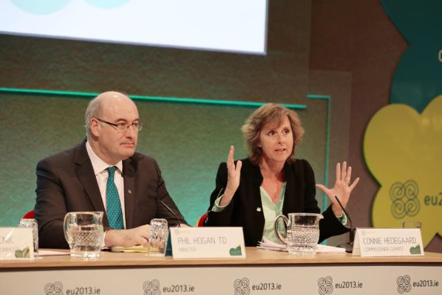 20130423 Environment Informal Press Conference - Phil Hogan & Connie Hedegaard