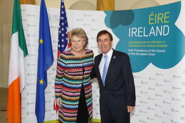20130614 EU-US JHA Bilateral - Alan Shatter and Viviane Reding