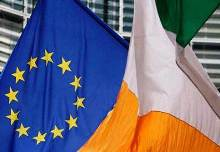 Ireland and EU Flag